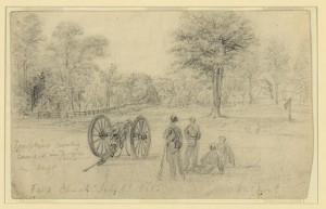 Part of 2nd US Cavlry at Falls Church 7-1-1861
