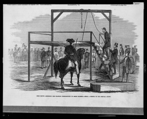 John Brown ascending the scaffold preparatory to being hanged