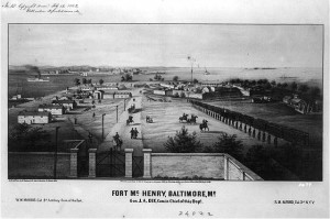 Fort McHenry, Baltimore, Md (c1861 October 29; LOC - LC-USZ62-3677)