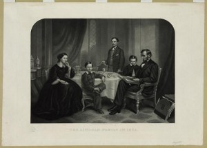 Lincoln family in 1861 (New York : J.C. Buttre, 48 Franklin St., c1873; LOC: LC-USZ62-5409)