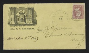 Civil War envelope for 50th New York Engineer Regiment showing armory building (between 1861 and 1863; LOC: LC-DIG-ppmsca-31714)