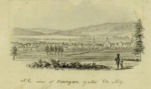 N.E.View of PENN YAN, Yates Co., N.Y. (circa 1856-1860) By John Warner Barber