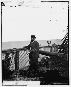 Adm. David D. Porter, Lt. Commander, on deck of U.S. Steamship Fulton. (between 1862 and 1865; LOC: LC-DIG-cwpbh-03367)