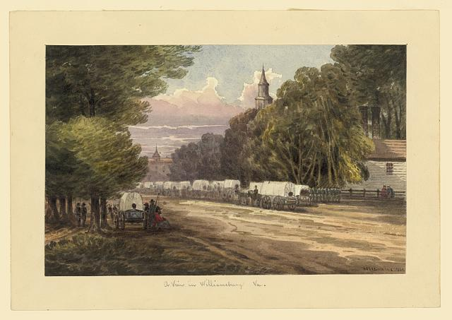 A view in Williamsburg, Va. (1862 by William McIlvaine; LOC: LC-DIG-ppmsca-20005)