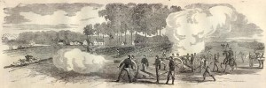 THE ARMY OF THE POTOMAC—GENERAL DAVIDSON'S BRIGADE TAKING POSSESSION OF MECHANICSVILLE, NEAR RICHMOND, VIRGINIA, MAY 24, 1862.—SKETCHED BY MR. MEAD. (Harper's Weekly, 6 - 21-1862)