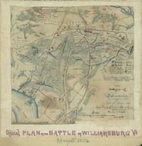 Battle of Williamsburg map (by Robert Knox Sneden; LOC: gvhs01 vhs00006 http://hdl.loc.gov/loc.ndlpcoop/gvhs01.vhs00006)