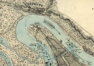 View of Vicksburg and plan of the canal, fortifications & vicinity Surveyed by Lieut. L. A. Wrotnowski, Top: Engr. Drawn & lithogd. by A. F. Wrotnowski C.E.  Wrotnowski, L. A.  CREATED/PUBLISHED [S.l.], 1863.