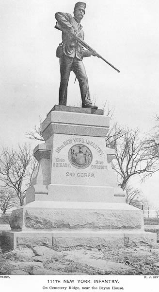 111thInfMonument (http://dmna.ny.gov/historic/reghist/civil/infantry/111thInf/111thInfMonument.htm)