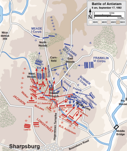 Map of the Battle of Antietam of the American Civil War by Hal Jespersen