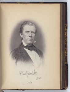 William Smith, Representative from Virginia, Thirty-fifth Congress, original signature (by Julian Vannerson, 1859; LOC: LC-DIG-ppmsca-26671)