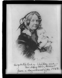 Elizabeth Cady Stanton and her daughter, Harriot--from a daguerreotype 1856 (between 1890 and 1910 of daguerreotype taken 1856; LOC: LC-USZ62-48965)