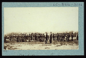 1st U.S. colored infantry (between 1861 and 1865; LOC: LC-USZC2-6431)