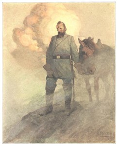 Stonewall Jackson by N.C. Wyeth in THE LONG ROLL BY MARY JOHNSTON, 1911