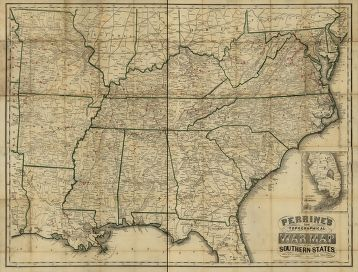 Perrine's new topographical war map of the southern states Taken from the latest government surveys and official reports. E. R. Jewett & Co., engravers, Buffalo, N. Y. Entered according to Act of Congress, in the year 1863, by C. O. Perrine. (LOC:  g3861s cw0043600 http://hdl.loc.gov/loc.gmd/g3861s.cw0043600)