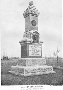 126th Inf Monument at Gettysburg