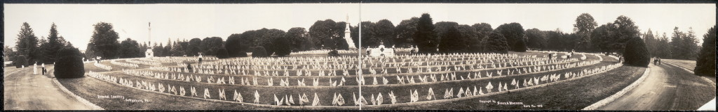 National Cemetery, Gettysburg, Pa. (by Simon & Murnane c.1913; LOC:  PAN US GEOG - Pennsylvania no. 87 (E size) [P&P])