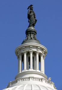 Lantern of the dome of the United States Capitol, Washington D. C.