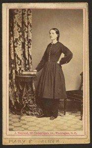 Mary E. Walker (by John Holyland, between 1860 and 1870; LOC:  LC-DIG-ppmsca-19911)