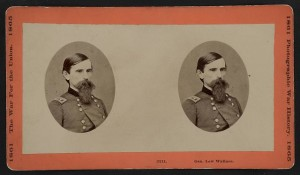 Gen. Lew Wallace (Hartford, Conn. : The War Photograph & Exhibition Co., No. 21 Linden Place, [between 1861 and 1865]; LOC: LC-DIG-stereo-1s02866 )