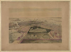 Bird's eye view of Boston (New York : Published by John Bachmann, c1850; LOC: LC-DIG-pga-00100)