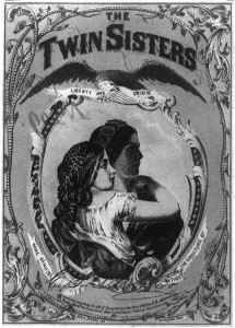 The twin sisters liberty and union (Entered . . . 1863 by C.S. Allen & Co. Segar Manrs.; LOC: LC-USZ62-90679)