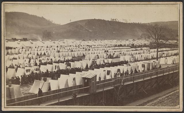 Elmira Prison, Elmira, New York (by Moulton & Larkin, between 1864 and 1865; LOC: LC-DIG-ppmsca-33993 )