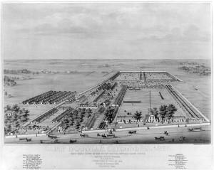 Camp Douglas, Chicago, Ill. 1864 (LOC: LC-USZ62-15612)