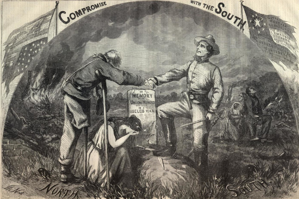 DEDICATED TO THE CHICAGO CONVENTION.  (Harper's Weekly September 3, 1864 (by Thomas Nast)