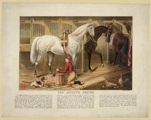 The jockey's prayer (.Y. : Rae Smith, printer, c1868.; LOC:  LC-DIG-pga-03323)