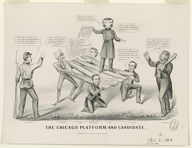 The Chicago platform and candidate (by Louis Maurer,  [New York] : Published by Currier & Ives, 152 Nassau St. N.Y., c1864.; LOC: LC-USZ62-21706)