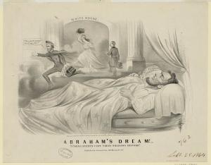 """Abraham's dream!--""""Coming events cast their shadows before"""" (by Louis Maurer,  [New York] : Published by Currier & Ives, 152 Nassau St. N.Y., c1864; LOC: LC-DIG-ppmsca-19400)"""