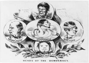 Heads of the democracy (1864; LOC: LC-USZ62-91441)