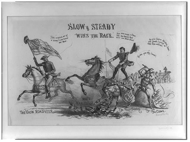 Slow & steady wins the race (1864; LOC: LC-USZ62-92036 )