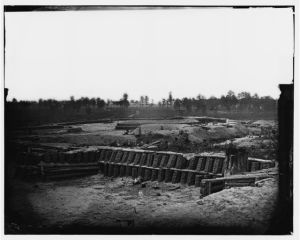 Petersburg, Va. View from center of Fort Sedgwick looking south (1865; LOC: LC-DIG-cwpb-04092)