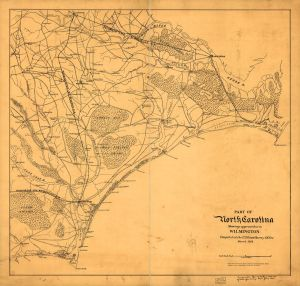 approaches to Wilmington NC 1864 ( Map of the coast of North Carolina from Cape Lookout to Cape Fear. ; LOC: http://www.loc.gov/item/99447484/)