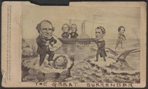 The great surrender America surrenders the great commissioners - England surrenders her great pretensions - Jeff. Davis surrenders his great expectations. (New-York : Published by E. Anthony, 501 Broadway, 1862.; LOC: LC-DIG-ppmsca-35499)