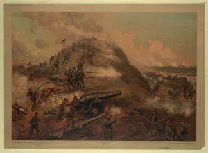 Capture of Fort Fisher ( Boston : L. Prang & Co., c1887; LOC: LC-DIG-ppmsca-19925)