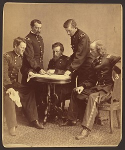Sheridan and his generals (by Alexander Gardner, 1-2-1865; LOC: LC-DIG-ppmsca-24021)