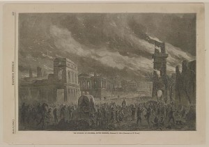The burning of Columbia, South Carolina, February 17, 1865 (by William Waud, 1865 April 8; LOC: LC-DIG-ppmsca-33131)