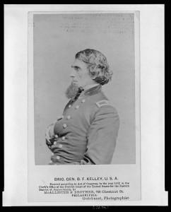 Brig. Gen. B. F. Kelley, U.S.A. (by Frederick Gutekunst, Philadelphia : McAllister & Brother, c1862; LOC:  LC-USZ62-126419)