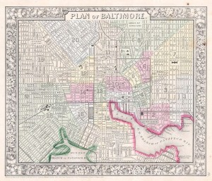 700px-1864_Mitchell_Map_of_Baltimore,_Maryland_-_Geographicus_-_Baltimore-mitchell-1864