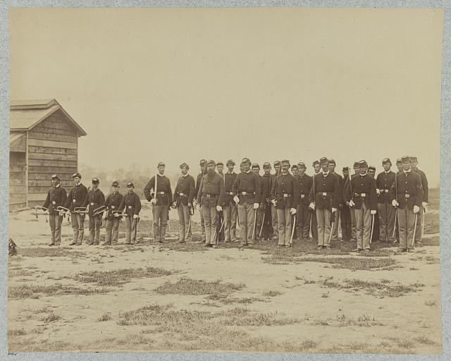 General Grant's Cavalry escort, City Point, Va., March, 1865 ( photographed 1865, [printed between 1880 and 1889; LOC: LC-DIG-ppmsca-34478)