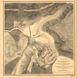 Battle field of Waynesboro, Va. (2d March, 1865) (1873; LOC: http://www.loc.gov/item/99448353/)