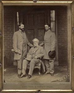 Gen'l. Robt. E. Lee and staff (1865 April 16; LOC: LC-DIG-ppmsca-31663)