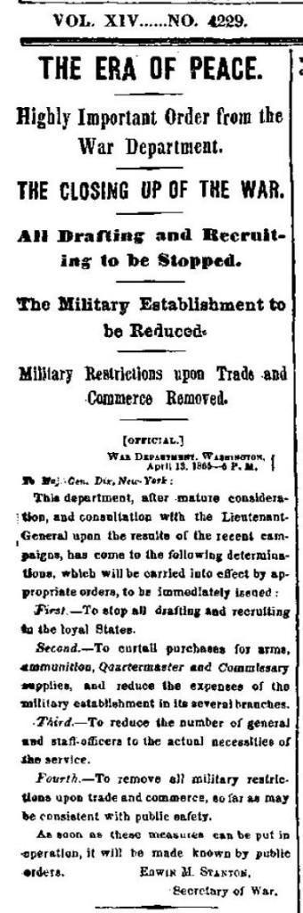 NY Times 4-14-1865