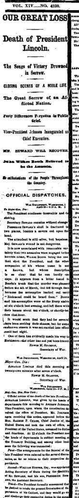New York Times 4-16-1865