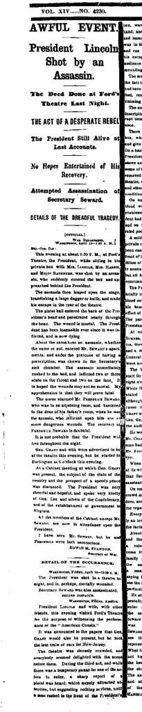 NY Times 4-15-1865