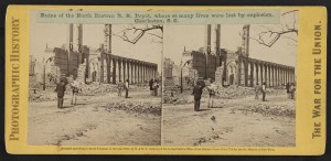 Ruins of the North Eastern R. R. Depot, where so many lives were lost by explosion, Charleston, S.C.  (c1865; LOC: http://www.loc.gov/item/2011646729/)