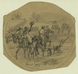 Negroes leaving the plough  (by Alfred R. Waud, Harper's Weekly, March 26, 1864; LOC: http://www.loc.gov/item/2004660106/)