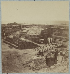 Interior views of Fort Sumter, in April, 1865  (photographed 1865, [printed between 1880 and 1889]; LOC: http://www.loc.gov/item/2014646431/)